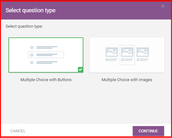 Thrive Quiz Builder Review- Choose A Option Type