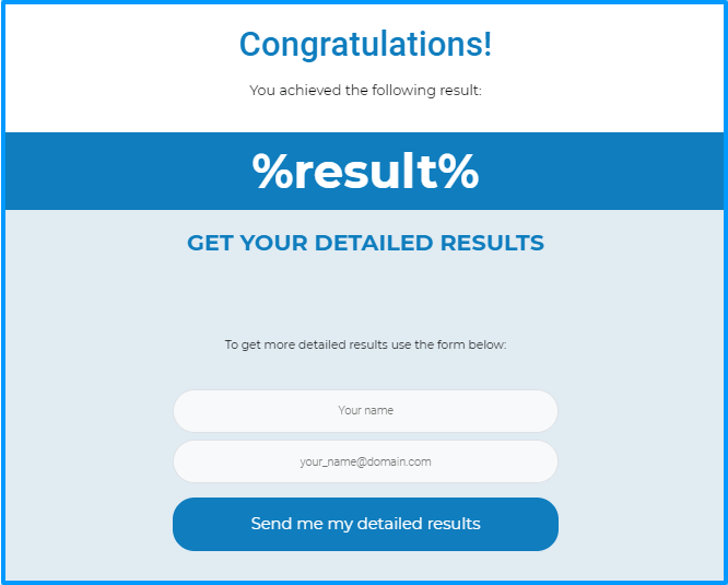 Thrive Quiz Builder Review- Choose A Result Page