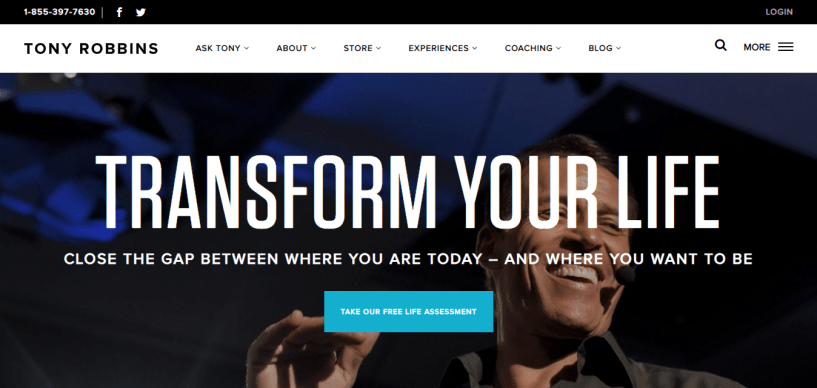 Tony Robbins motivational speaking coupons