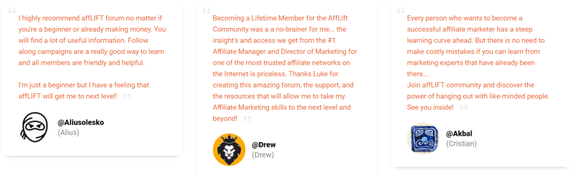 AffLIFT Review- Testimonials