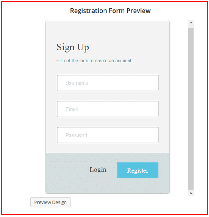 ProfilePress Review- Registration Form Preview