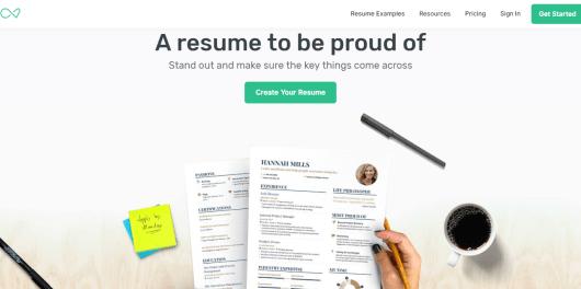 resume builder EnhancV