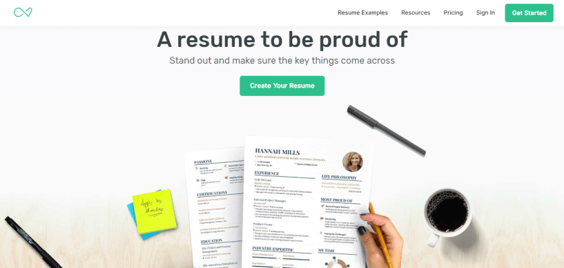 resume builder EnhancV