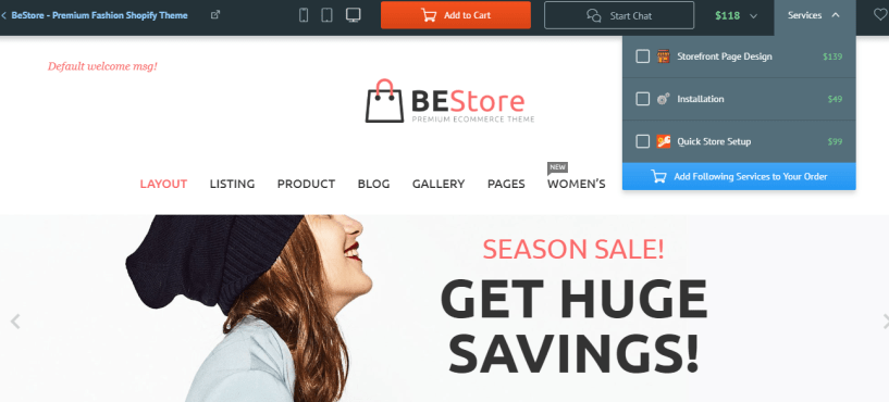 Best Shopify Theme- BEStore