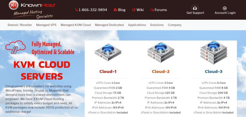 KnownHost- Cloud VPS Hosting