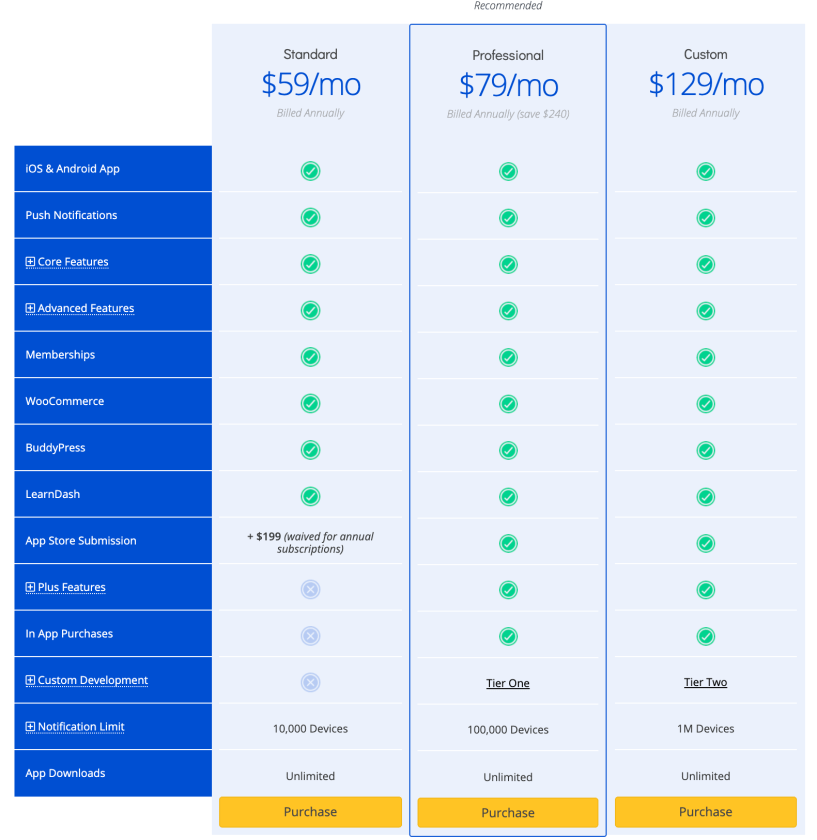 Pricing - AppPresser Review