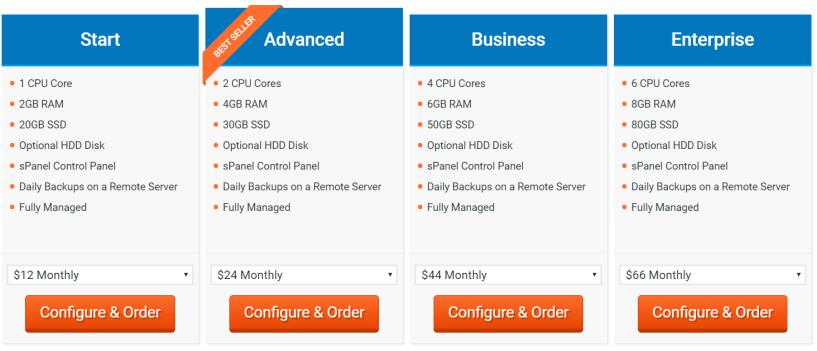 Scala Hosting Pricing Plans- Managed Cloud VPS Hosting