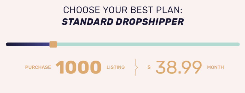 AutoDS Review- 1000 Listing Pricing Plans