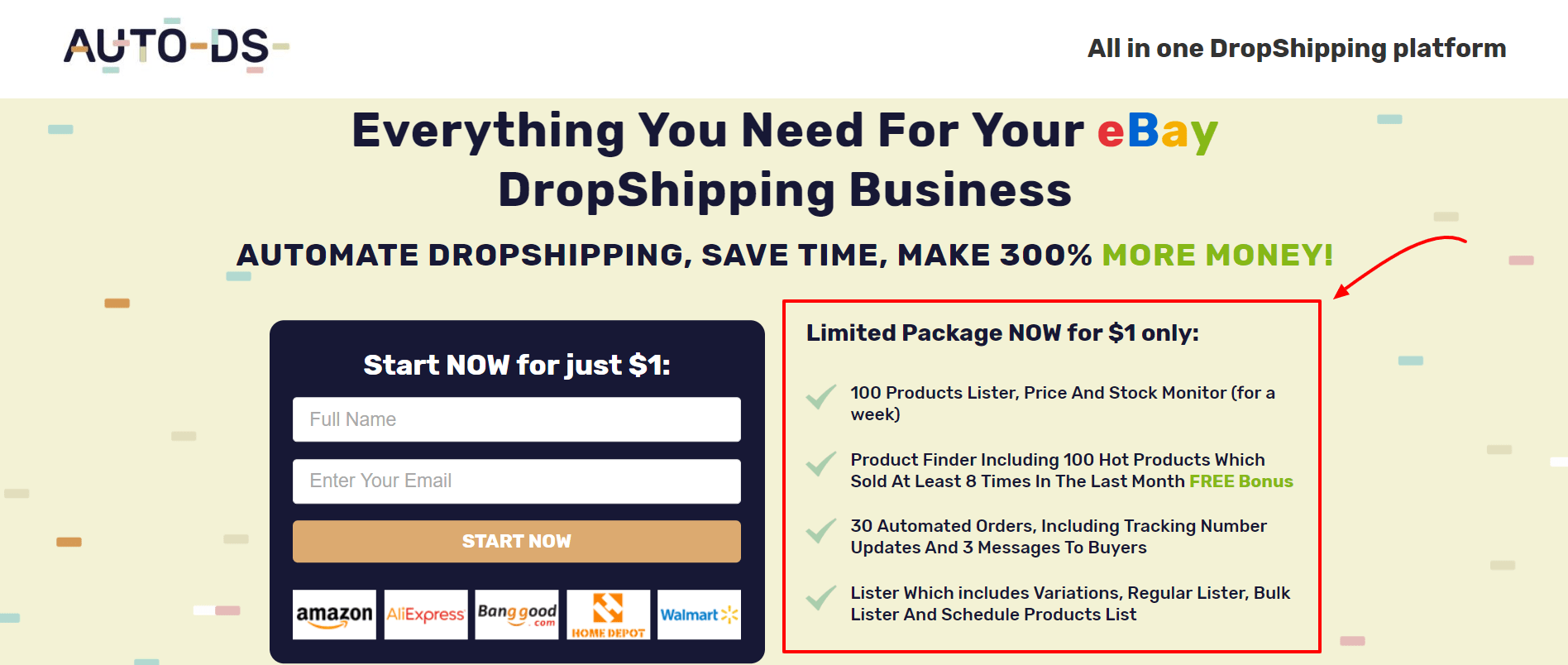 AutoDS Review [2019 ]: (Dropshipping Automation For $1