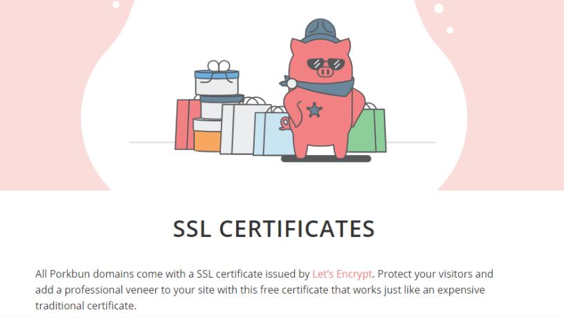 Porkbun review- ssl certificate
