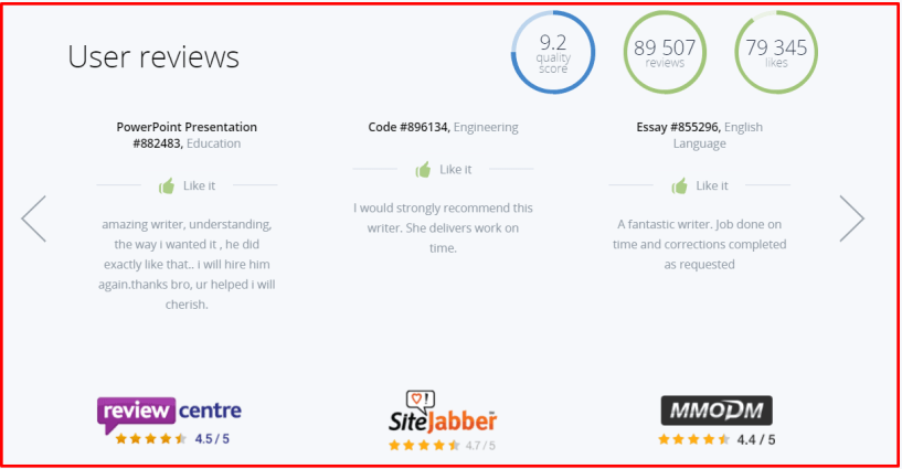 StudyBay Review- Customer Review
