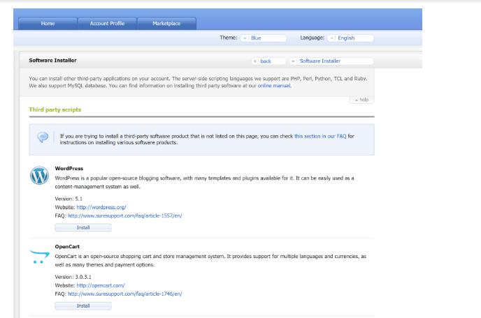 ICDSoft Review- WordPress Auto installer