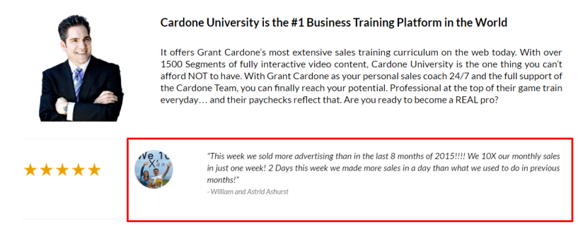 Grant Cardone Sales Training University Review - Best University