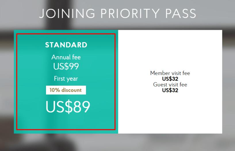 Priority Pass Coupon Codes- Standard Plan