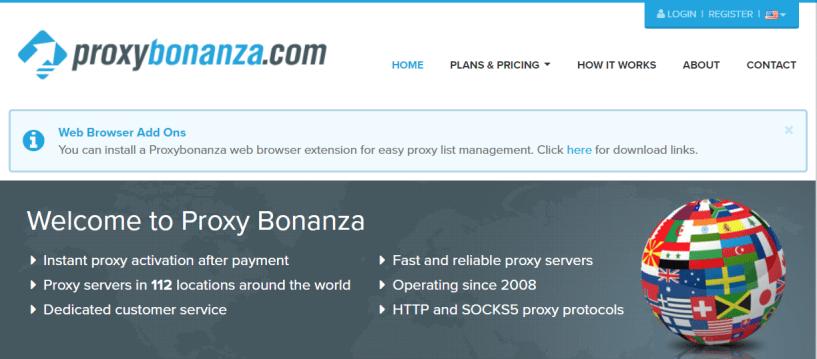 Proxy Bonanza- List of Best SOCKS Proxies Provider