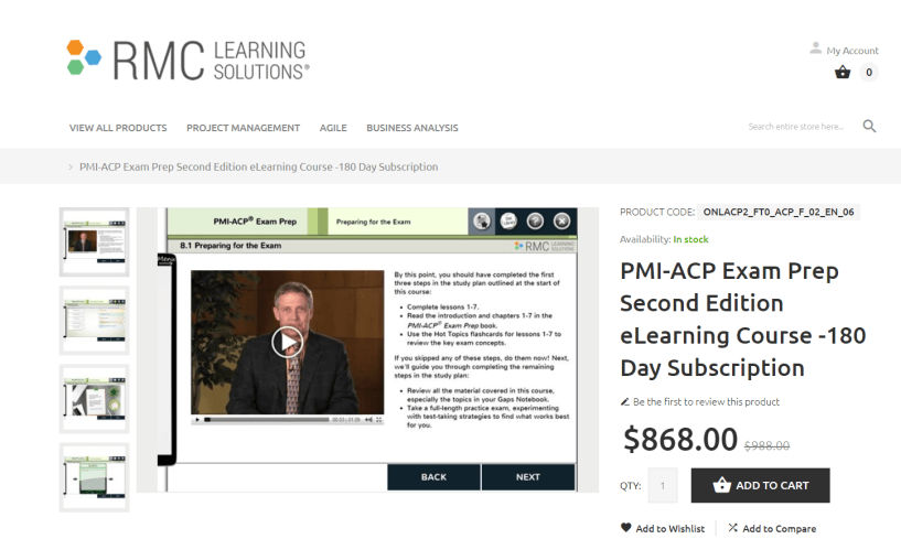 RMC Learning Solution- Best PMI-ACP Online Training Providers