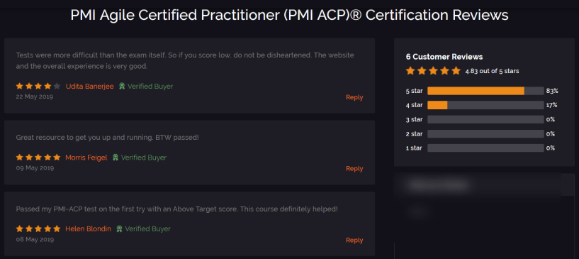 Whizlabs- PMI ACP ® Courses Review