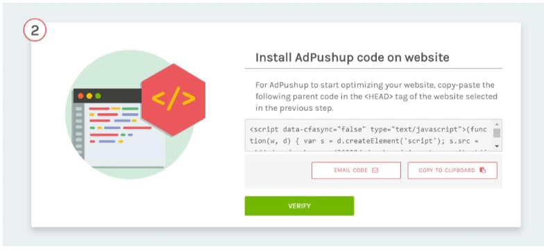 AdPushup Review- Install The Code On Website