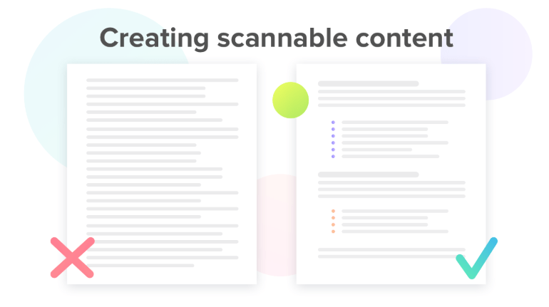 Creating scannable content - Content Marketing