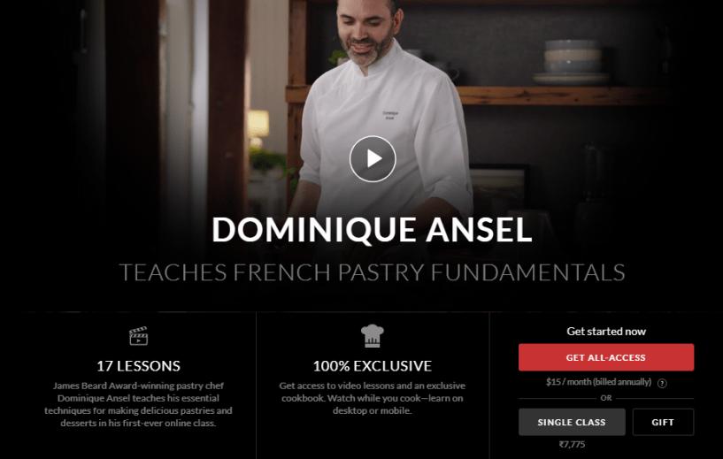 Dominique Ansel Masterclass Review - Price