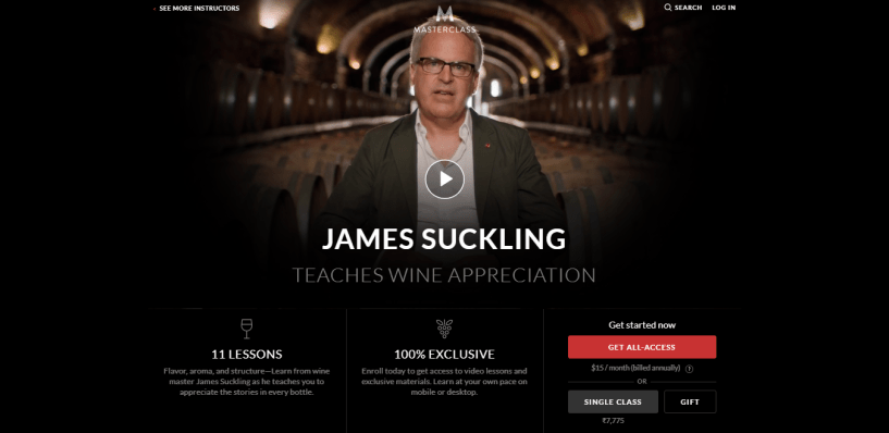 James Suckling Masterclass Review- pricing
