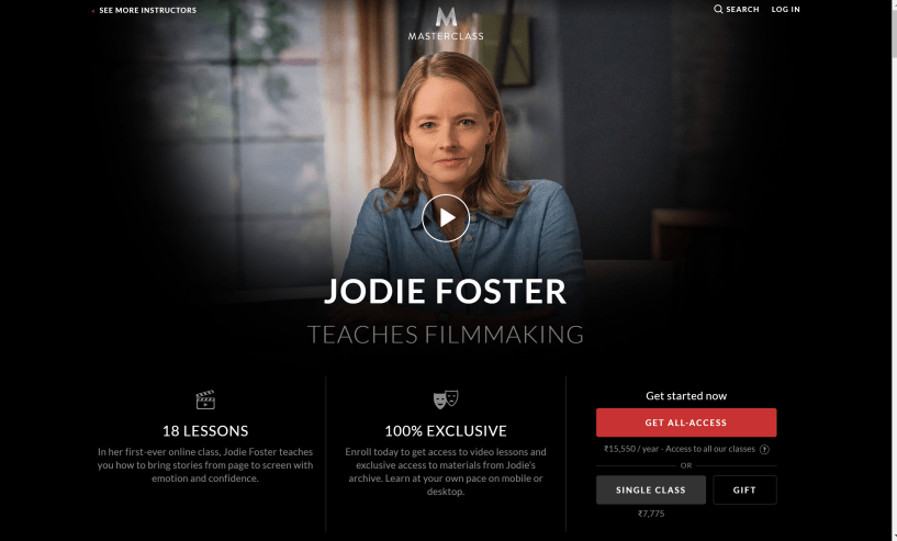 Jodie Foster FilmMaking Masterclass review