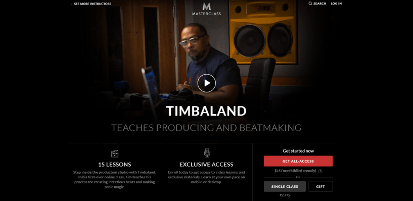 Timbaland MasterClass Review - pricing