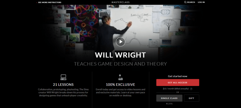 Will Wright MasterClass Review - pricing