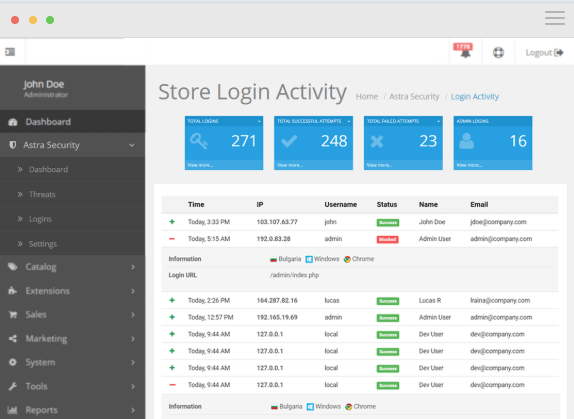 Astra Security Suite Review - login system
