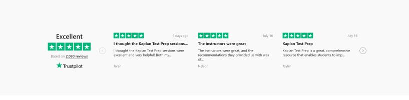 Kaplan customer reviews