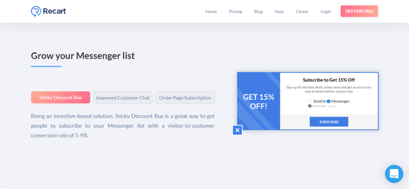 Recart Review - Grow your list