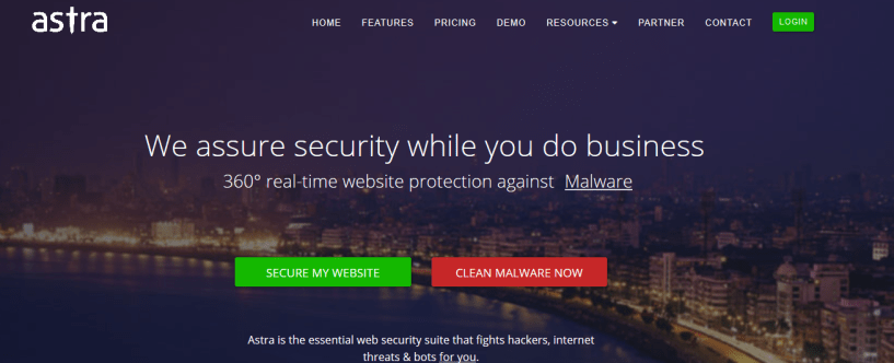 ASTRA Security - 360° Website Security