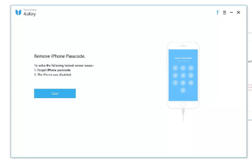 Tenorshare 4uKey Review With Discount Coupon - Remove I phone Passcode Step 1