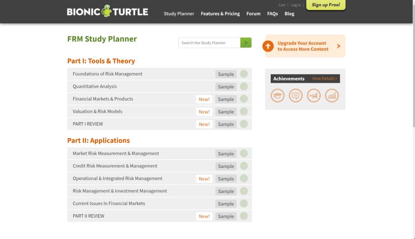 Bionic turtle courses
