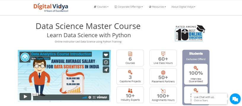 Digital Vidya Python Data Science Course Review- Digital Vidya