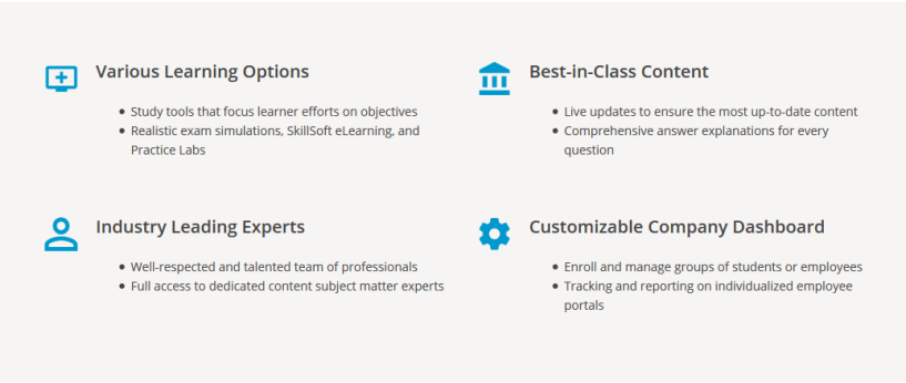 Kaplan IT Training Review- Features