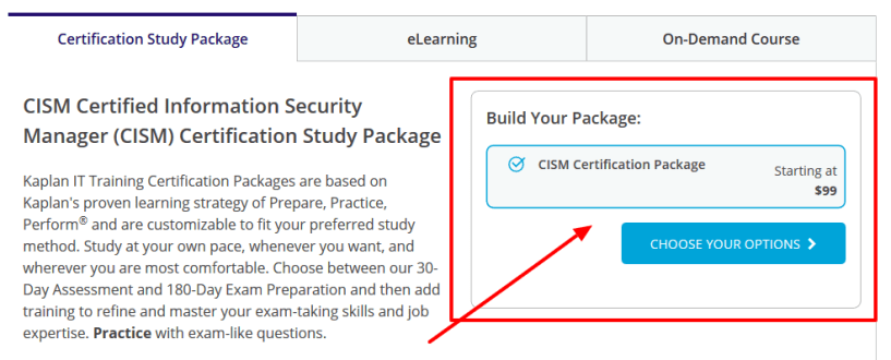 Kaplan IT Training Review- ISACA Certified Information Security Manager CISM