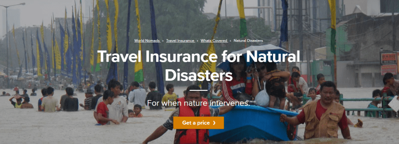 World Nomads Review - Natural Disasters