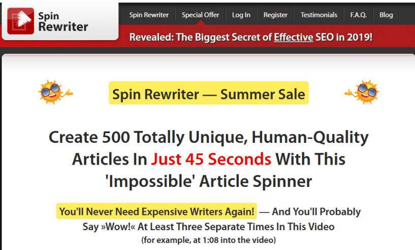Spin Rewriter Review- Relaible Spin Tool