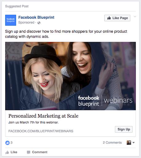 Facebook Ad - Ad Blueprint