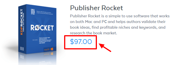 Publisher Rocket Review - pricing plan
