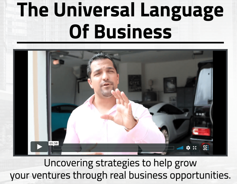 Universal Language Of Business Course – Secret Entourage