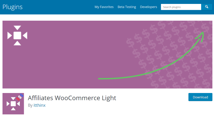 Top 10 Best Affiliate Plugins- Affiliates WooCommerce Light