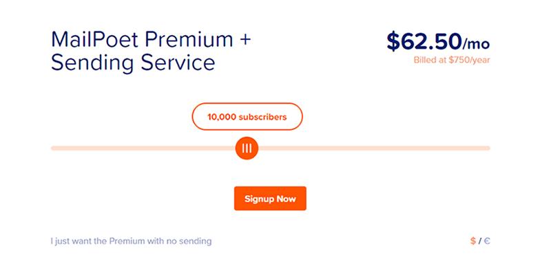 MailPoet Fiyatlandırma Planları