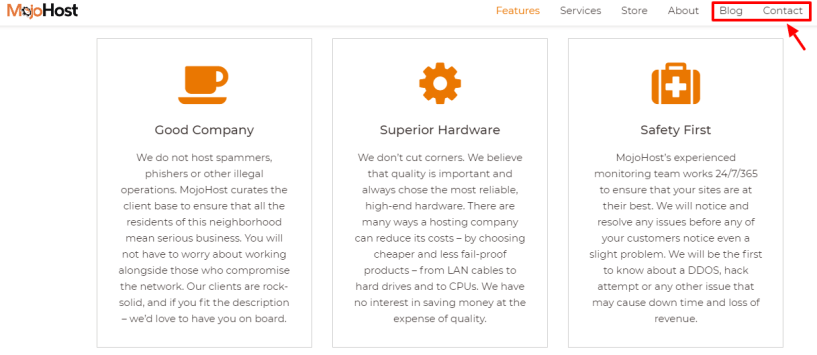 Check Out Superior Hardware System at Mojohost - features