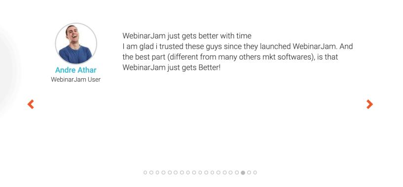 WebinarJam Review- Customers