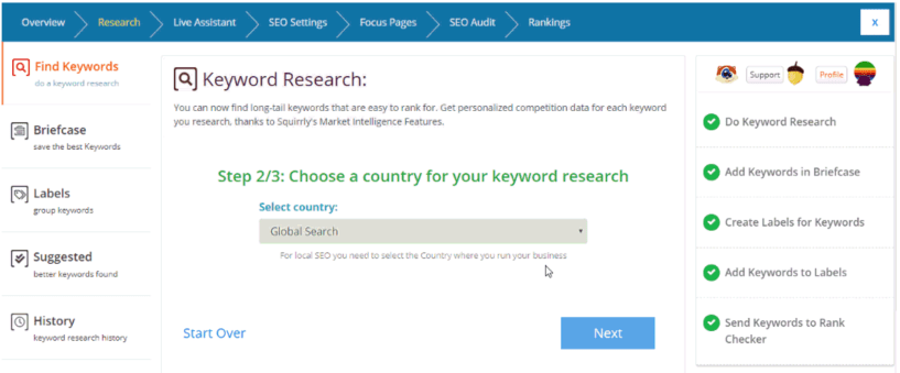 Squirrly SEO Plugin Review- Keyword Research Tool