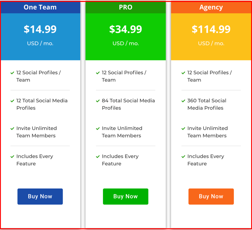Squirrly Social Review - Pricing plan
