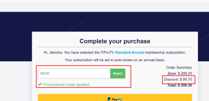 itpro tv discount coupons codes