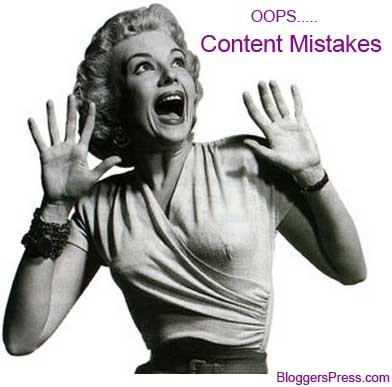 top content mistakes